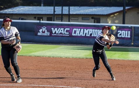 Aggies close gap on first-place GCU with series win