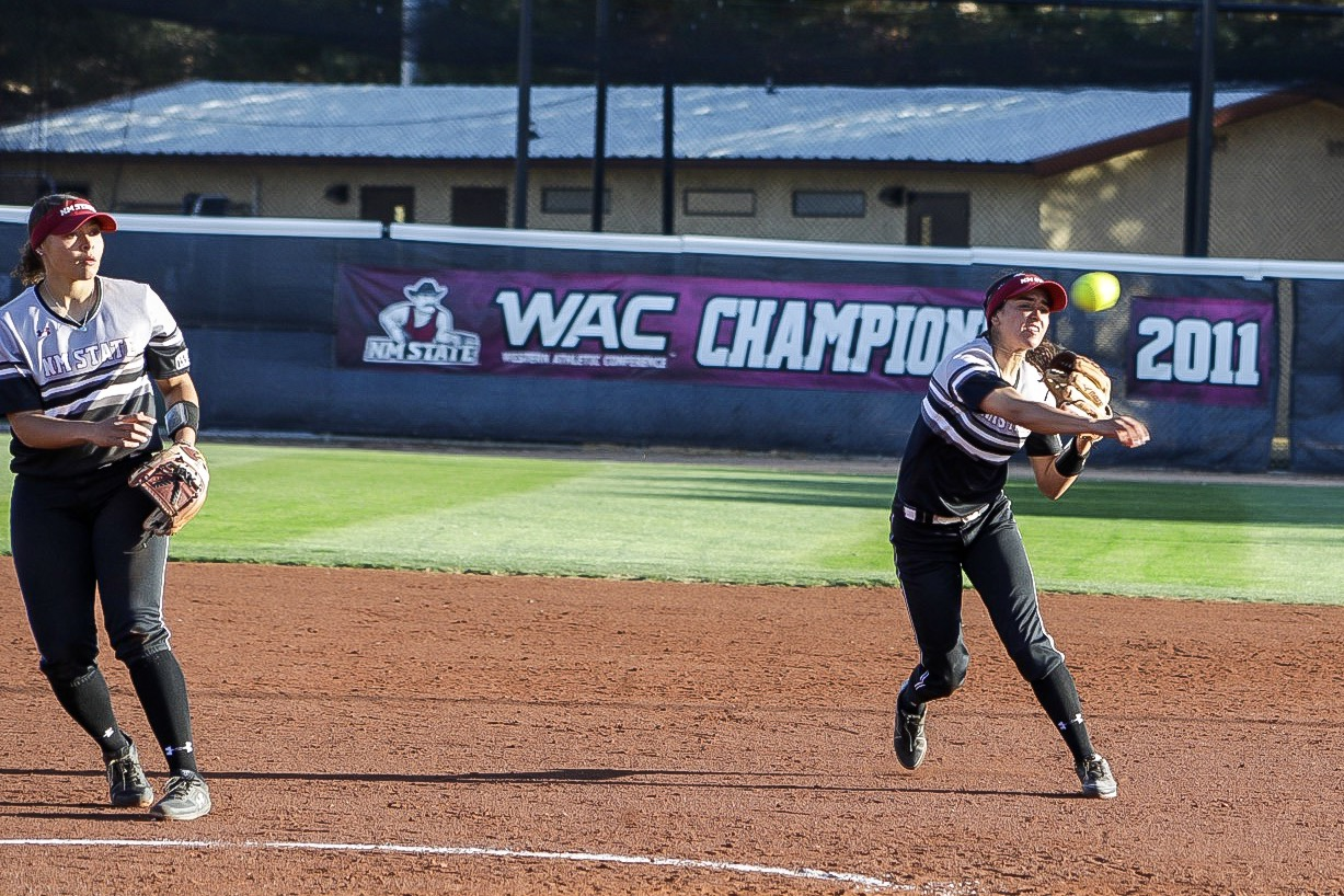 New Mexico State hands Grand Canyon two of their three conference losses, winning the first and last games of the weekend series.