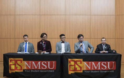 ASNMSU Presidential candidates hold debate prior to election week