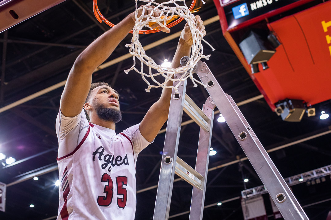 New Mexico State hopes to ride their momentum into the conference tournament and secure their third straight postseason title and first 30-win season in program history.