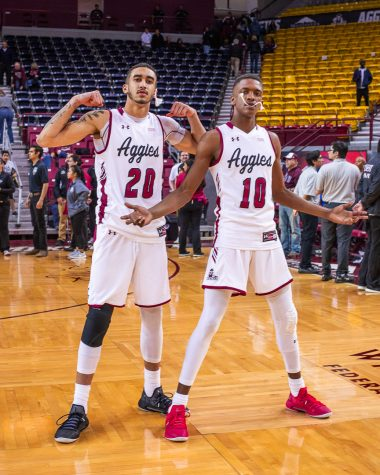 Aggies finish WAC play perfect 16-0 with senior night blowout over CBU