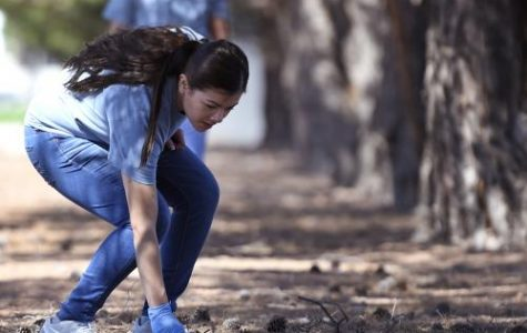 NMSU students participate in 16th-annual community clean-up