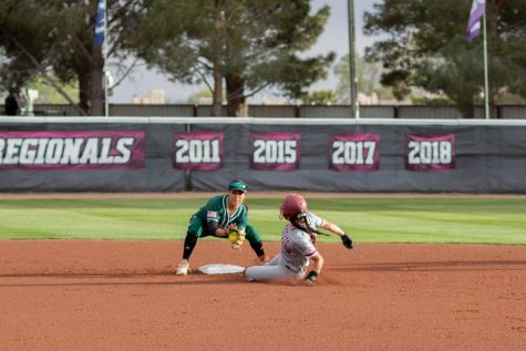 Aggie softball falls to Sooners again, beat Campbell