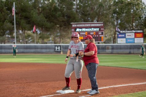 Aggie great Nikki Butler finished her career at the NMSU Softball Complex with a series sweep over UVU.