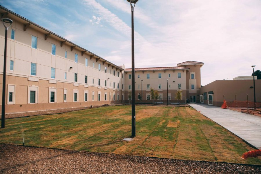 NMSU%27s+newest+residence+hall%2C+Juniper+Hall%2C+celebrated+its+grand+opening+on+Tuesday%2C+Jan.+30.+The+building+was+first+opened+for+students+in+August+2019.+