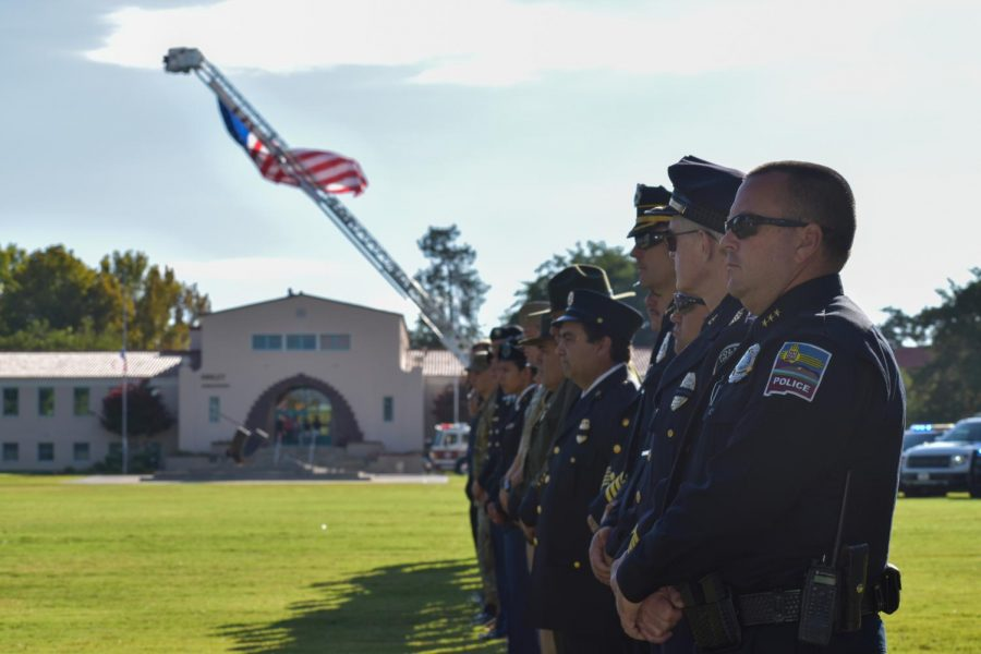 The+students+of+NMSU+ROTC+stood+alongside+the+NMSU+Patriot+Day+to+remember+9%2F11.