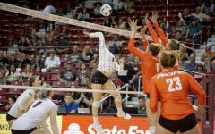 Aggie volleyball falls for first time this season to Portland