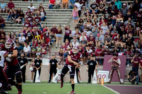 Josh Adkins looks to shake off a three-interception showing against Fresno State in the Aggies' homecoming showdown with fellow independent Liberty.