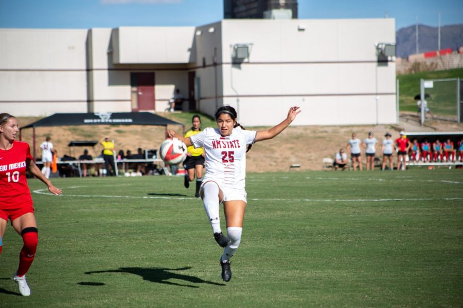 NM State puts on a strong debut showing in a 3-1 exhibition win over the Miners in El Paso.