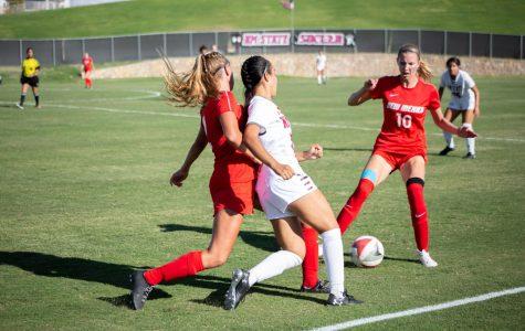 Aggie women's soccer stumbles in Battle of I-25