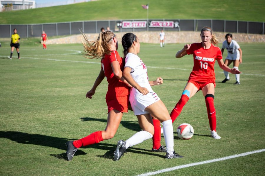 UNM's early go-ahead goal would prove to be enough to knock NM State off for a second straight year.