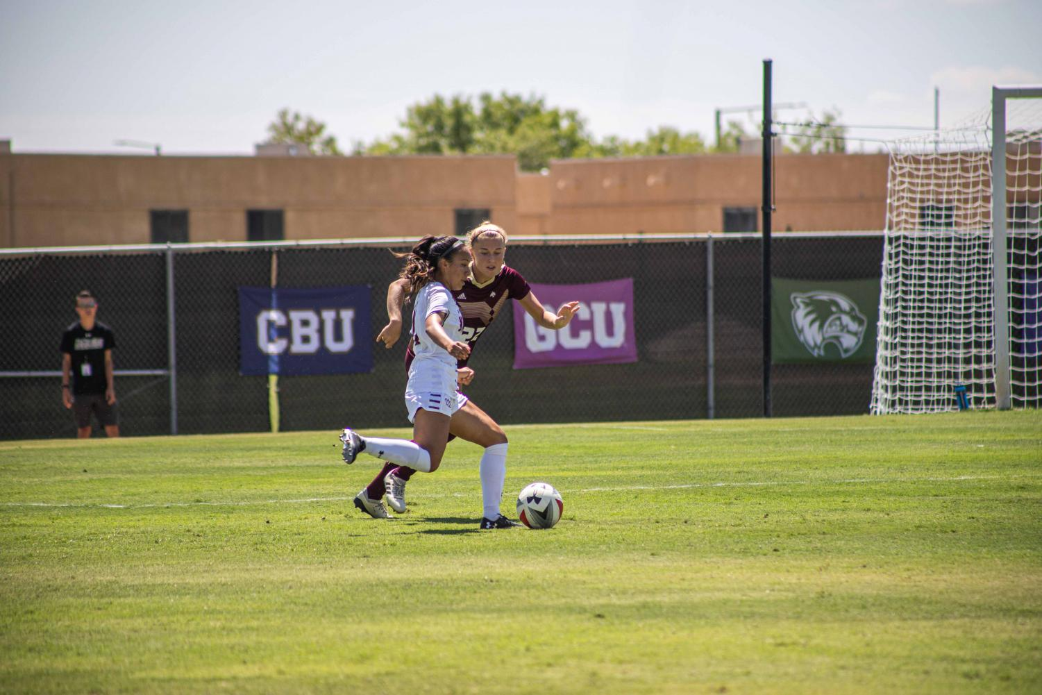 The Aggies ride an early second half goal and strong final hour of play to a 1-1 draw with Texas State.