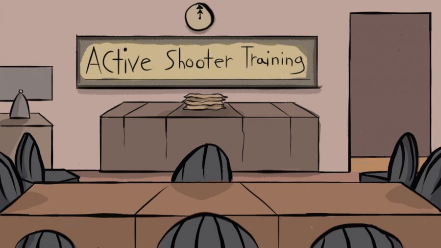 Over+the+course+of+a+year%2C+only+21+percent+of+students+attend+active+shooter+training.