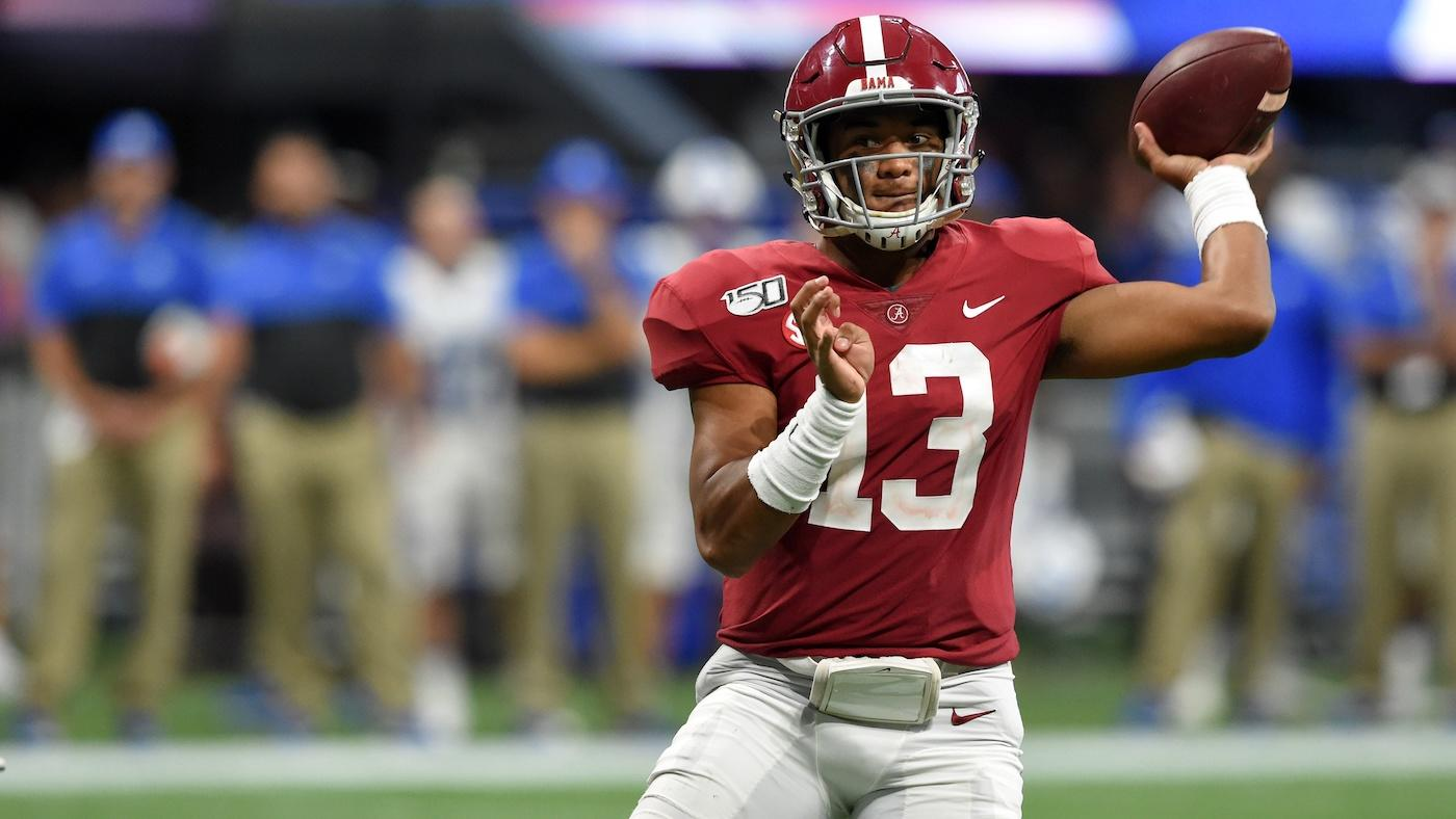 The Alabama Crimson Tide, led by Heisman hopeful Tua Tagovailoa, look to win their third National Title in the past five seasons. (Photo courtesy of CBS Sports)