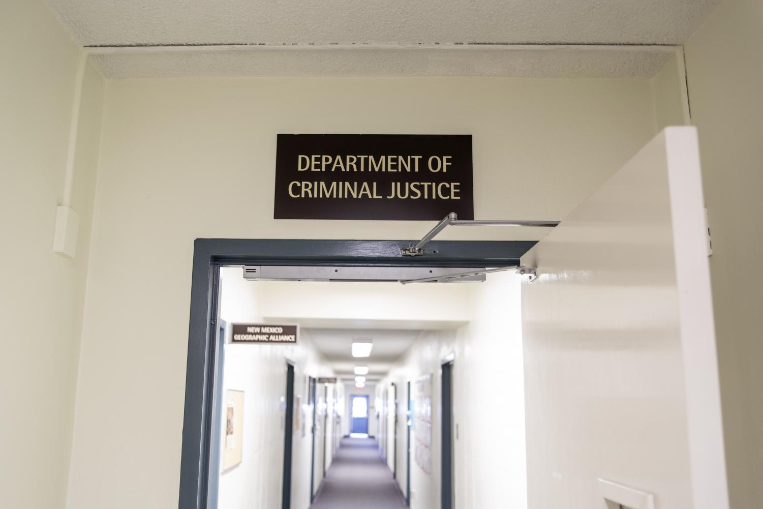 The criminal justice department is located in Breland Hall on campus.