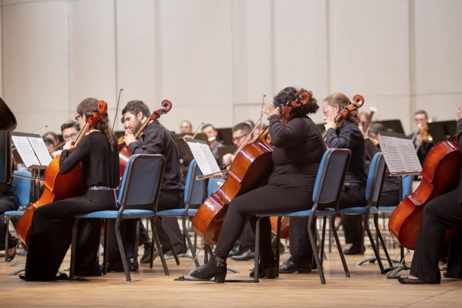 NMSU+Philharmonic+Orchestra+performs+for+the+annual+Autumn+Overture+concert+series+on+Tuesday.+Oct.+8.