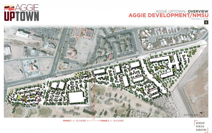 A+rendering+of+Aggie+Uptown.+Infrastructure+work+on+the+36-acre+project+began+in+August+2019+and+should+be+finished+by+January+2020.+%28Courtesy%29