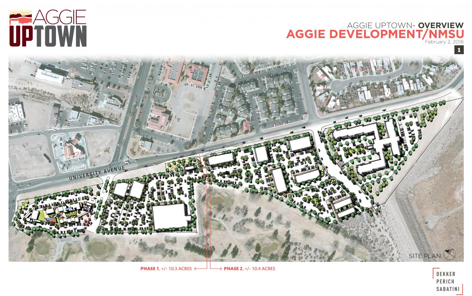 A rendering of Aggie Uptown. Infrastructure work on the 36-acre project began in August 2019 and should be finished by January 2020. (Courtesy)