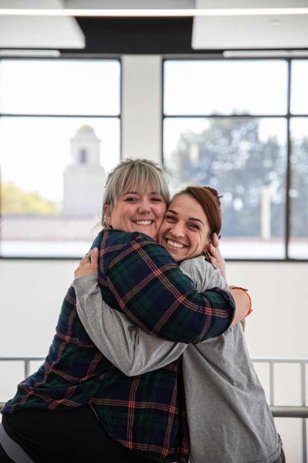 NMSU Master of Fine Arts students Katrina Chandler and Maggie Day.