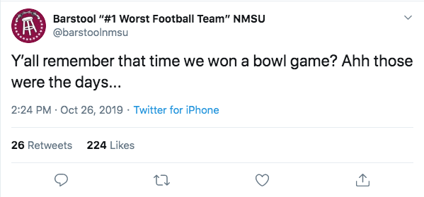 NMSU Top Tweet: Ah, the nostalgia.
