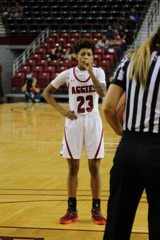 Aaliyah Prince scores a game-high 17 points in NM State's loss to the Roos.