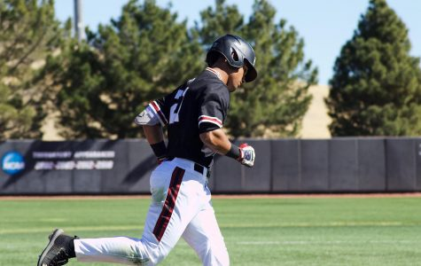 Nick Gonzales rounds the bases on one of his program record-tying three home runs on the day.