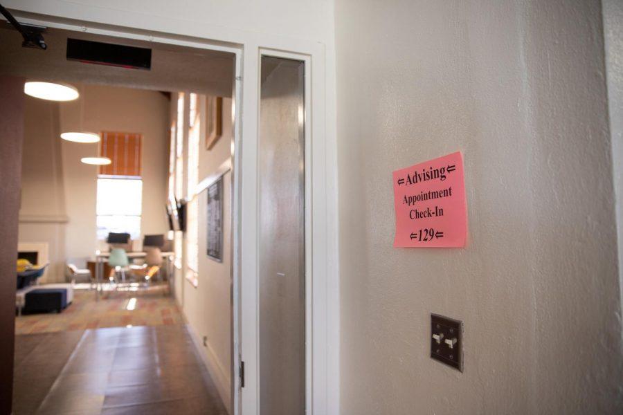 The+advising+center+located+in+Garcia+Center.+