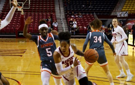 Gia Pack is due to make her comeback to the NM State lineup in the Aggies' opening round game of the WAC Tournament.