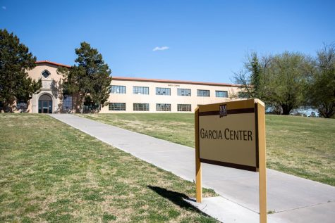 Garcia Annex looks dormant on the now vacant campus of NMSU.