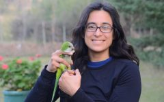 Grace Smith-Vidaurre, NMSU Ph. D. student, shown here releasing a monk parakeet in Uruguay. Vidaurre received the prestigious NSF Postdoctoral Fellowship to begin next year after she receives her doctorate from NMSU in December. (Courtesy Photo by Tania Molina Medrano