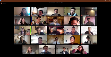 The 64th senate held their first meeting via Zoom.