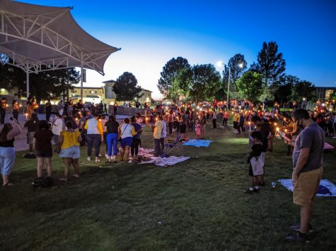 Candlelight vigil during Juneteenth observance, June 19, 2020.
