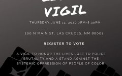 NMSU Black Programs will be hosting a candle light vigil in downtown Las Cruces on June 11, 2020.