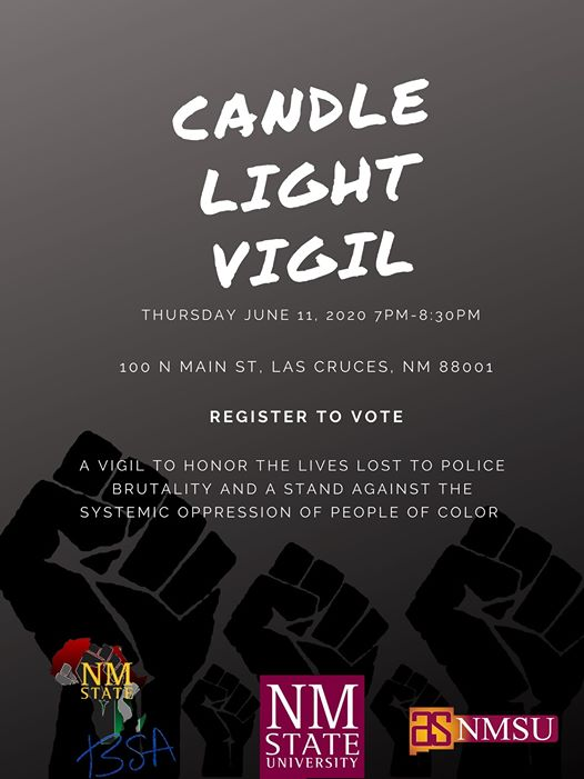 NMSU+Black+Programs+will+be+hosting+a+candle+light+vigil+in+downtown+Las+Cruces+on+June+11%2C+2020.