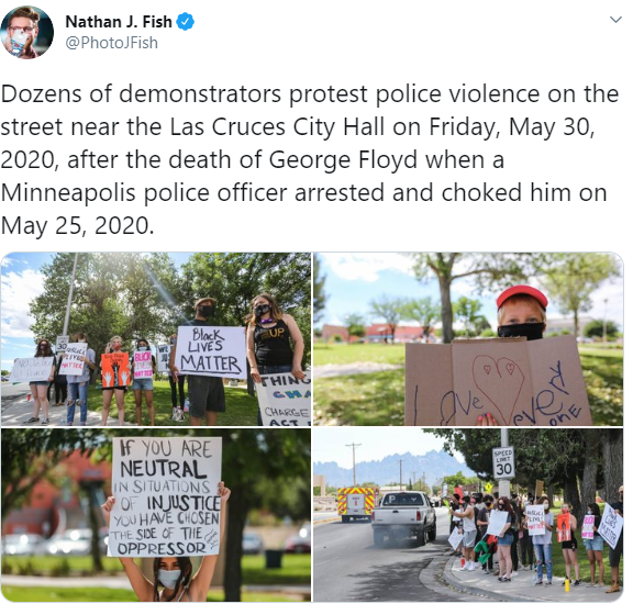 @PhotoJFish's coverage of the Las Cruces Black Lives Matter Protest Saturday on North Main Street and East Picacho Avenue.