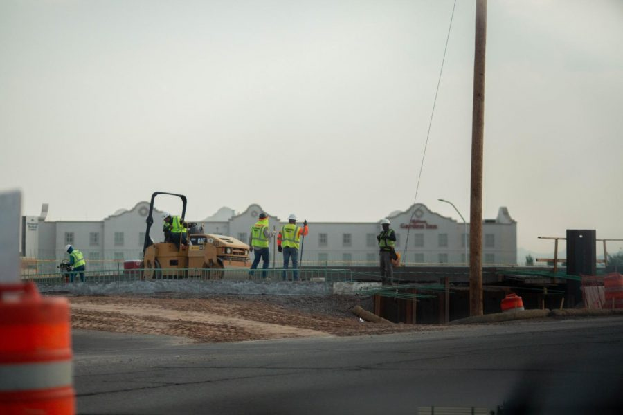 Construction near NMSU on track, has little impact on NMSU commuters, NMDOT PIO said.