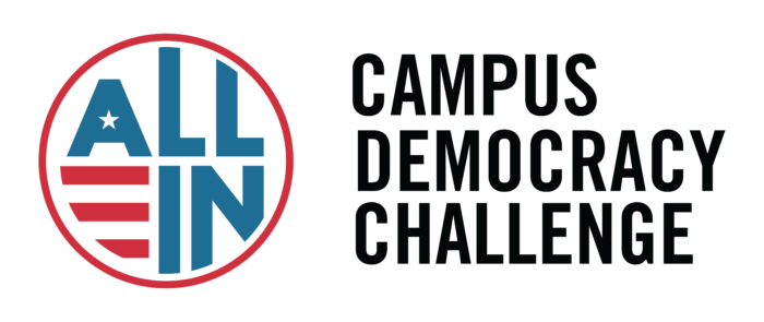 NM State continues to encourage its athletes and fans to get involved in joining the ALL IN Campus Democracy Challenge.