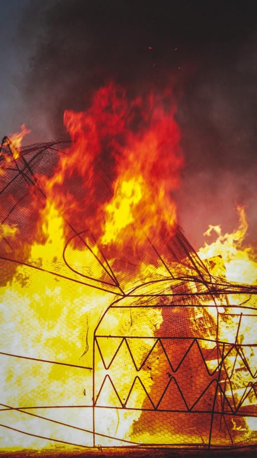 Burning+of+the+lobo+was+live+streamed+during+last+week%27s+homecoming+events.+Image+courtesy+ASNMSU+Twitter+