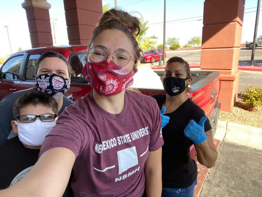 NMSU students in the National Society of Minorities in Hospitality gather once per month to donate linen and toiletries to the Las Cruces Gospel Rescue.