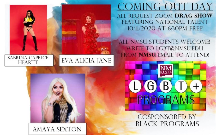 LGBT+ Programs at NMSU performed annual drag show to commemorate OUTober and National Coming Out Day Oct. 11.