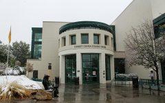 Corbett Center in the snow