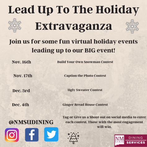 Student activities are being held around campus hosted by NMSU dining in lieu of usual end-of-semester traditions.