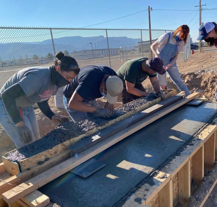 Students and faculty of Aggies Without Limits take on bridge construction near Alamogordo.