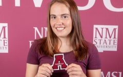 Hannah Linder is one of two students at NMSU who volunteers for the spring commencement committee. Image courtesy of University Advancement, NMSU Foundation & Alumni Association.