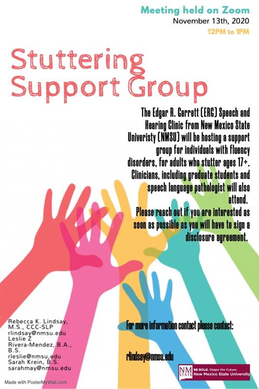 NMSU+Stuttering+Support+Group+offers+aid+to+those+with+speech+impediments