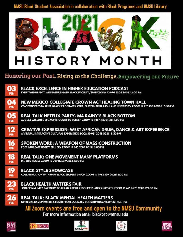 Courtesy image NMSU Black Programs and Black Student Association celebrates Black History Month