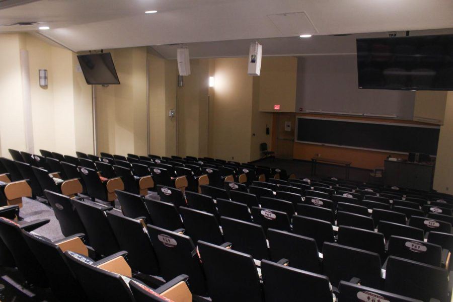 Empty classroom at NMSU during the COVID-19 Pandemic.