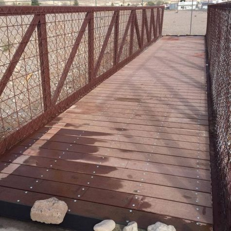 Local Bridge built by Aggies Without Limits finally finished located in Alamogordo, NM.