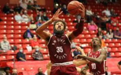 Johnny McCants nearly has a five-by-five game in NM State's 68-56 win over DSU. (Photo courtesy of NMSU Athletics)