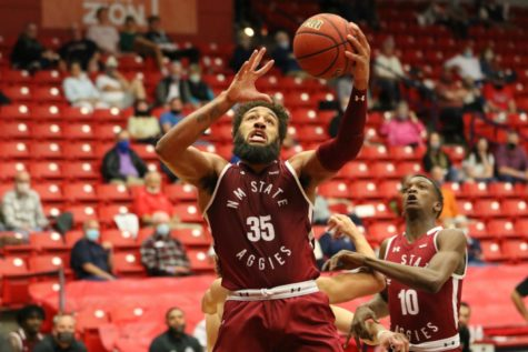 Johnny McCants nearly has a five-by-five game in NM State